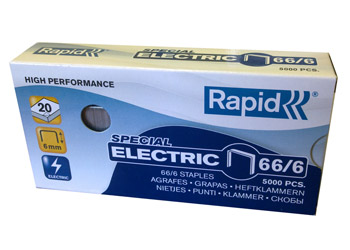 Скобы 66/6 R для степлеров Rapid