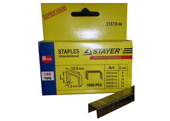 Мебельные скобы Stayer 31610-12 (12 мм / тип 140)